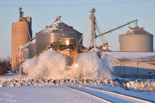 Golden snow plowing