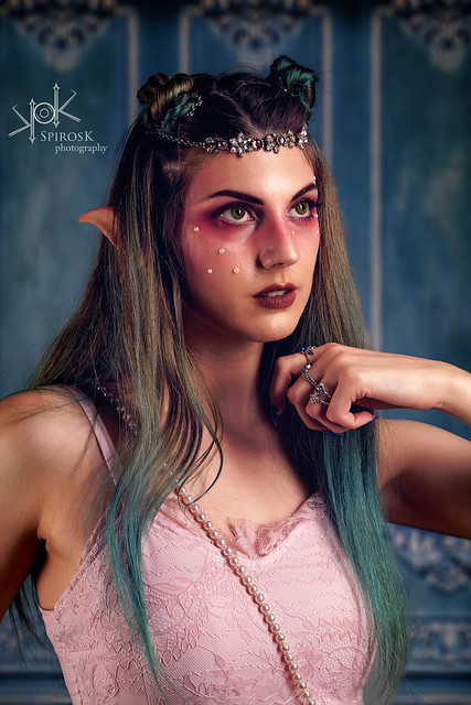 Ophelia Baudelaire as High Elf by SpirosK photography (2: Makeup Closeups)