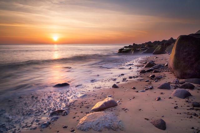 Sunrise Glow on Sheringham Beach Norfolk