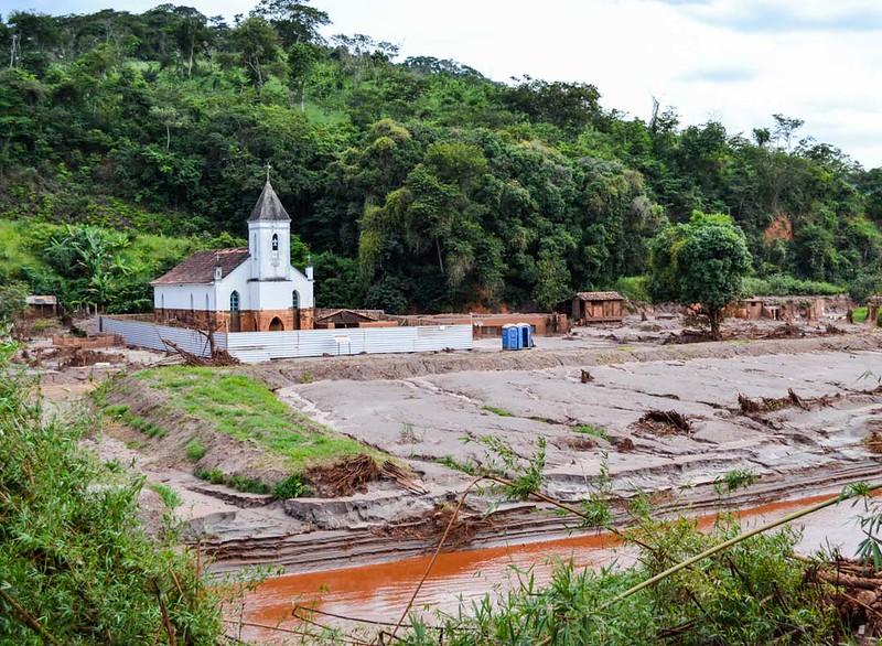 Fotos de las afectaciones del derrame minero de la multinacional Vale, en Minas Gerais, Brasil
