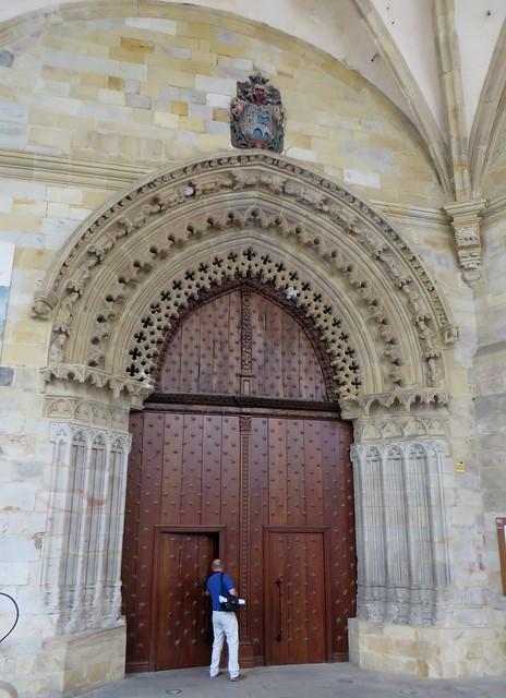 Portail méridional, cathédrale de Santiago, XIVe, Bilbao, Biscaye, Pays Basque, Espagne.