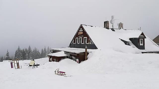 Děčínská bouda - Horská farma na Růžové hoře.