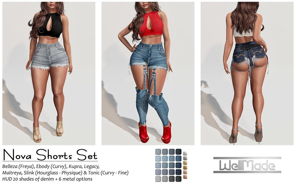 [WellMade] Nova Shorts Set