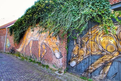 street art from artist Dzia in Kessel-Lo