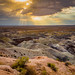 Sunset at the Little Painted Desert, Badlands, Four Corners, Arizona, USA
