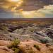 Sunset at the Little Painted Desert, Badlands, Four Corners, Arizona, USA