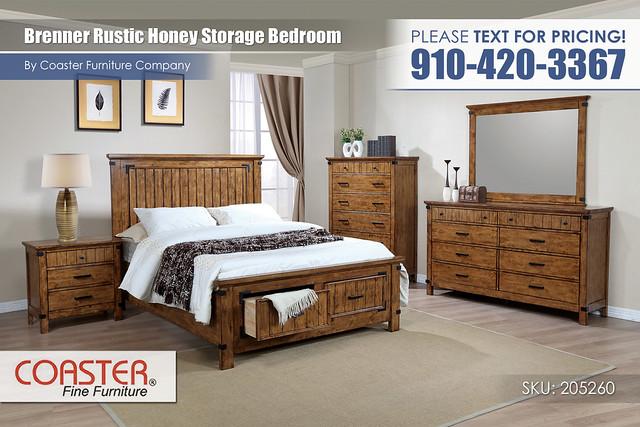 Brenner Rustic Honey Bedroom Storage Set_Queen_205260Q_21