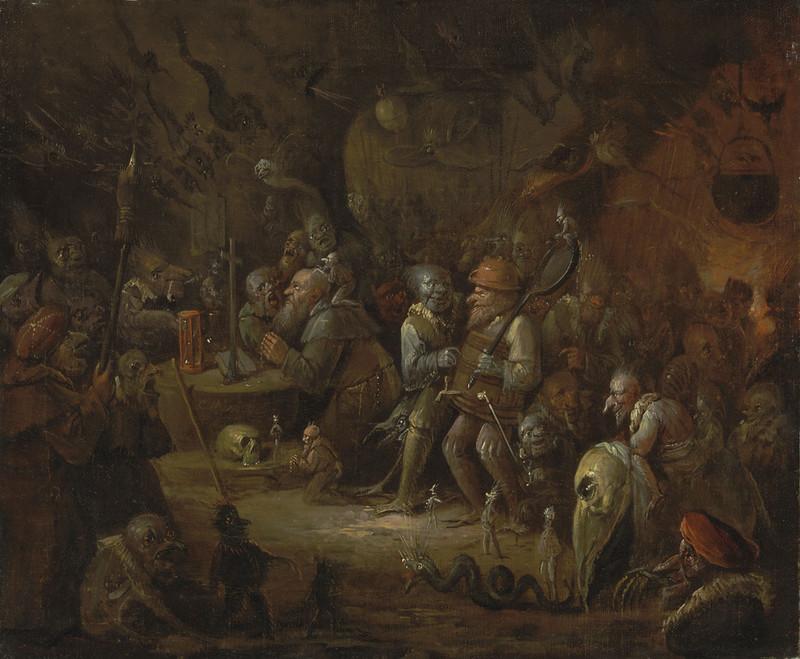 Egbert van Heemskerck II - The Temptation of Saint Anthony , 1676-1744