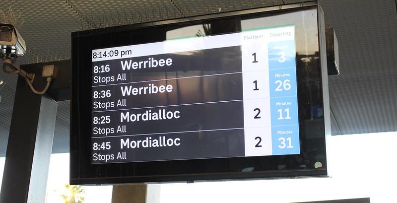 Bentleigh station: concourse Passenger Information Display (PID)