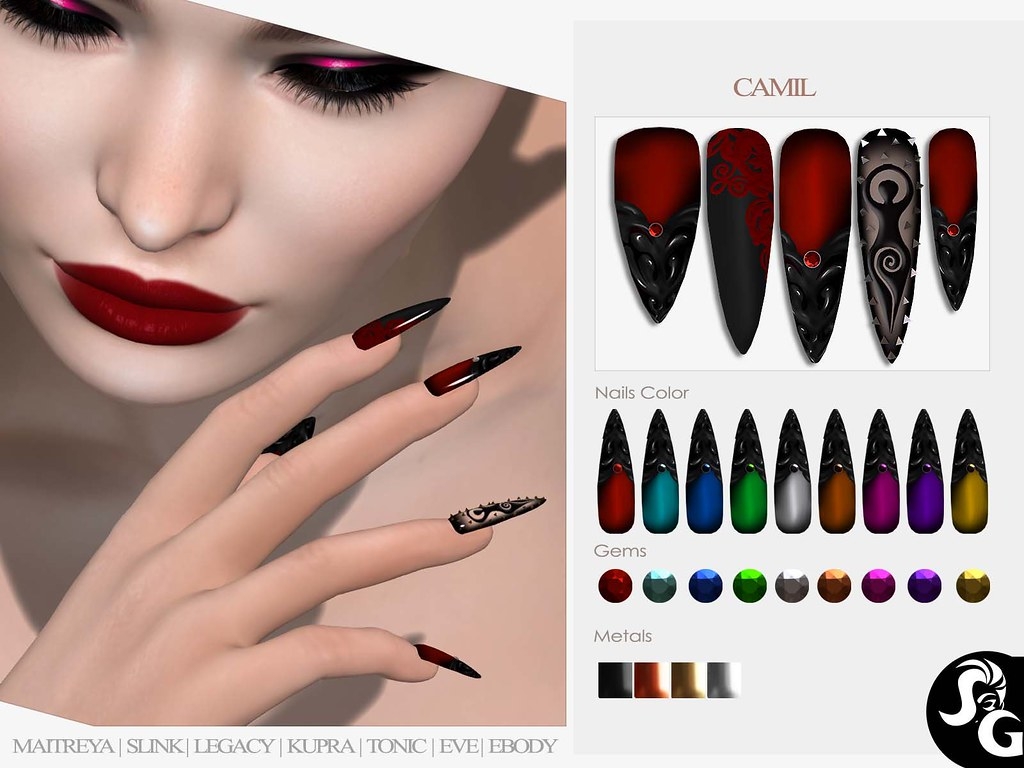 Camil Bento Mesh Nails @ Darkness Monthly