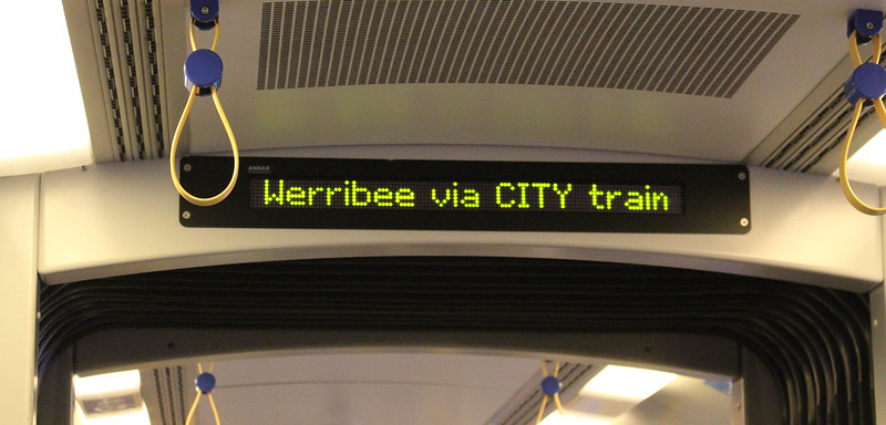 Siemens train on a service from Frankston to Werribee