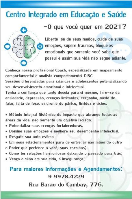 Centro Integrado em Educação e Saúde em São Gabriel - agende seu horário!