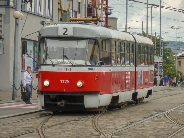 1125, Brno Tram near Brno Hln, 12 September 2012,