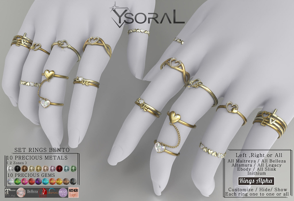 || YsoraL Giveaway  || .:Luxe Set Rings Amber  :.🎀💖💋