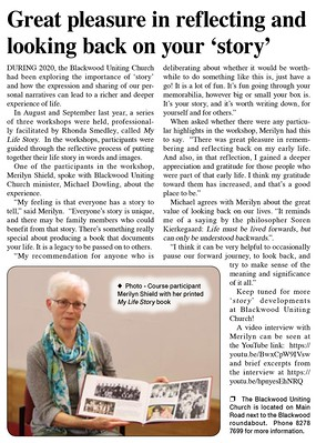 Great pleasure in reflecting and looking back on your 'story' - Blackwood Times Issue 311, February 2021