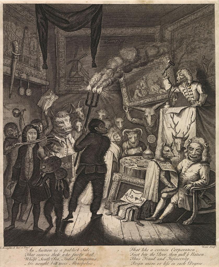 "Egbert von Heemskerck - ""Now gentlemen - See here's a peice, I hope you'll all bid up for this.."" Egbert van Heemskerck (II) - Animal Satire, third composition, 1730"