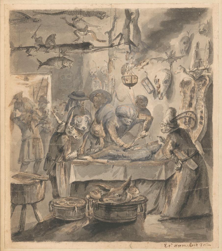 Egbert van Heemskerck (II) - Animal Satire, 1674 - 1744