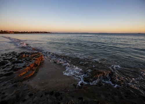 nz newzealand hauraki gulf takapuna beach sunrise tide morning landscape waterscape auckland