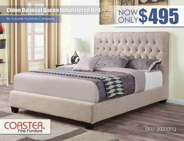 Chloe Oatmeal Upholstered Queen Bed_300007Q
