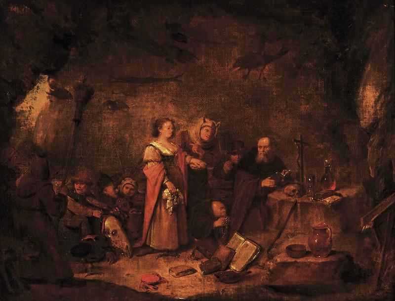 Egbert Van Heemskerk ll - The Temptation of Saint Anthony, version 2, 17th Century