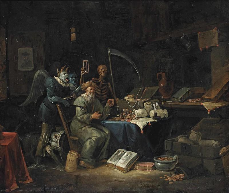 Egbert van Heemskerck II - An Allegory of Greed
