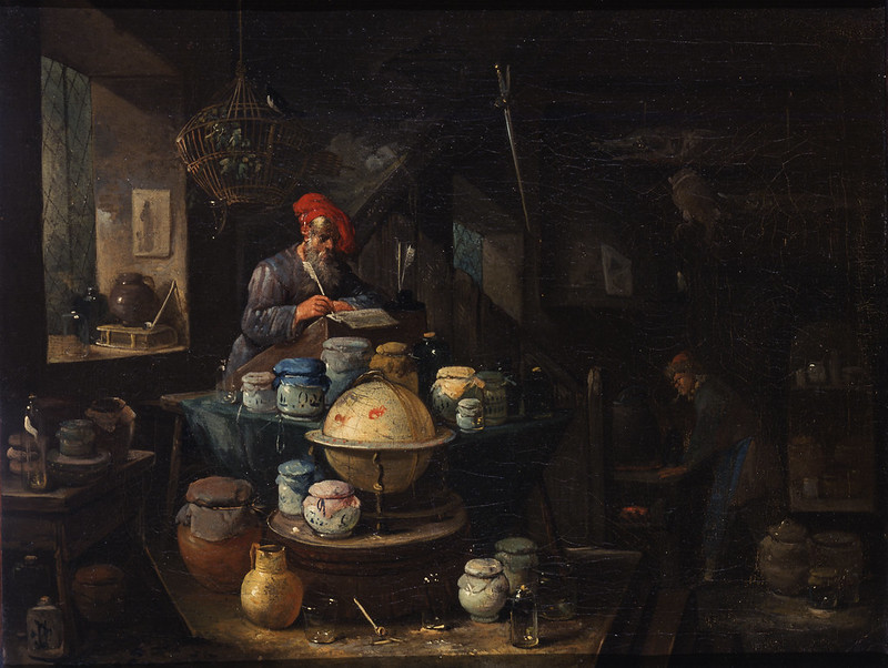 Egbert van Heemskerck II - An Alchemist in His Study