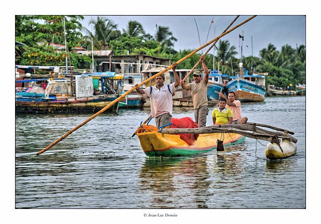 Balade sur la lagune de Négombo