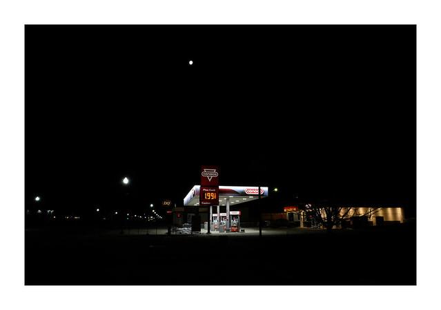 Moon Over Conoco, Custer, South Dakota