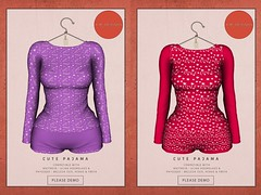 KiB Designs - Cute Pajama Purple or Red @GoldenDays