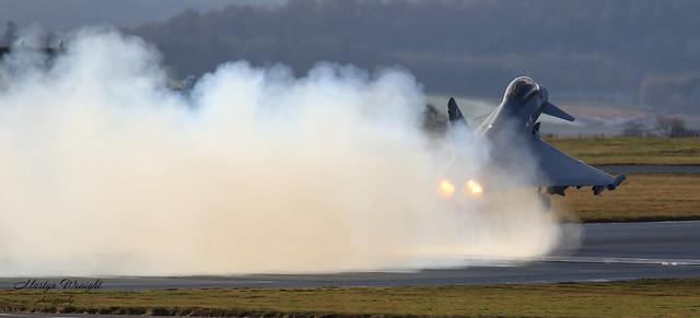2 Sqn Typhoon performance departure.