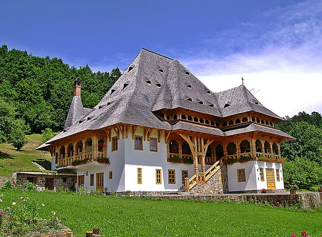 Barcánfalva Monastery, the most significant wooden building complex in Maramures, which commemorates the architecture of the region.