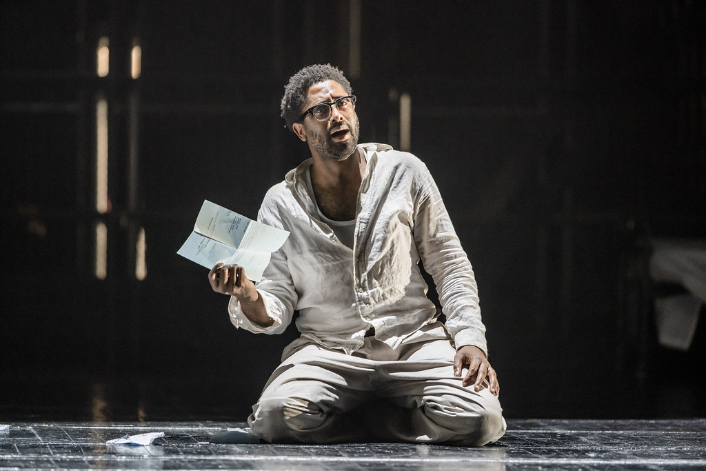 Peter Brathwaite in The Knife of Dawn, The Royal Opera © 2020 ROH. Photograph by Tristram Kenton