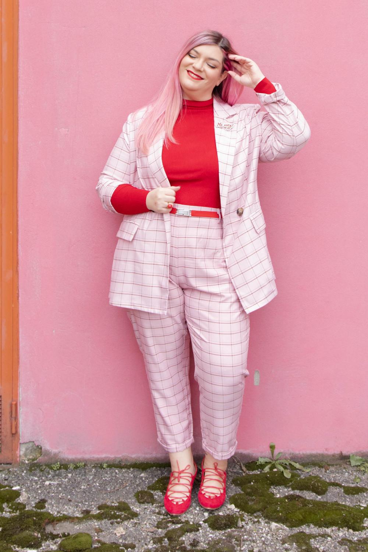 curvy color challenge monocromatico rosso e rosa (7)