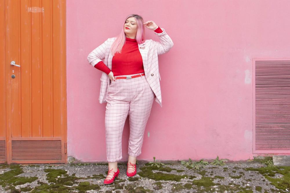 curvy color challenge monocromatico rosso e rosa (6)