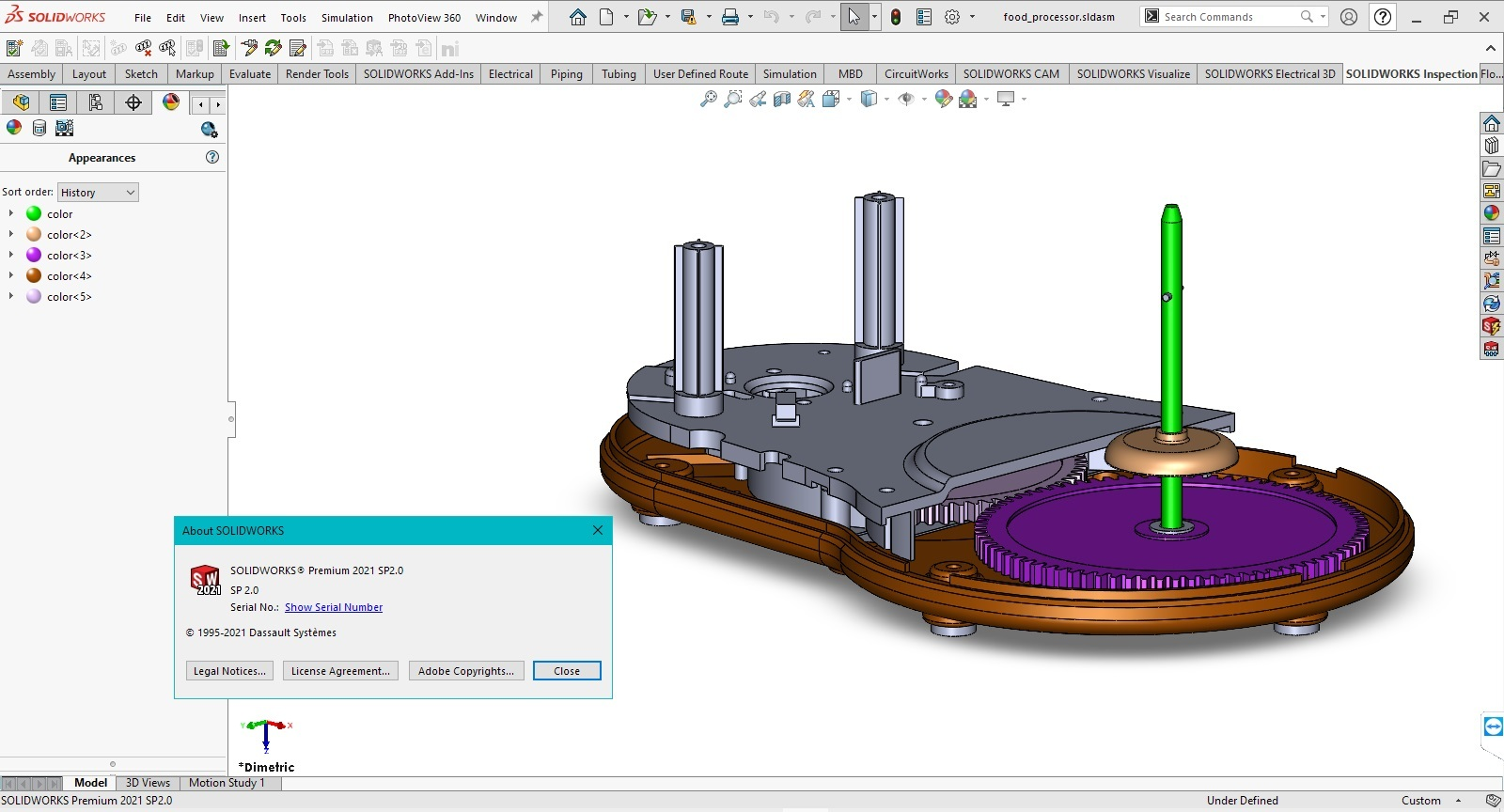 Working with SolidWorks 2021 SP2.0 Full Premium full license