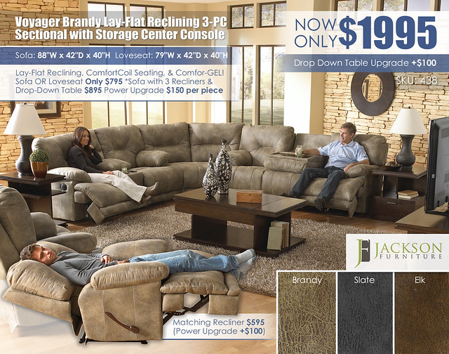 Voyager Brandy 3PC Sectional_438