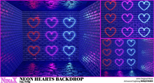 Neon Hearts Backdrop x Stupid Cupid Hunt 9