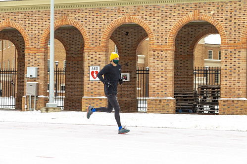 Scenes from a snow day: Men's cross country practice