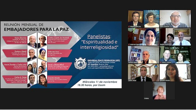Argentina-2020-11-11-UPF-Argentina's Monthly Ambassadors for Peace Meeting Hosts Interfaith Panel