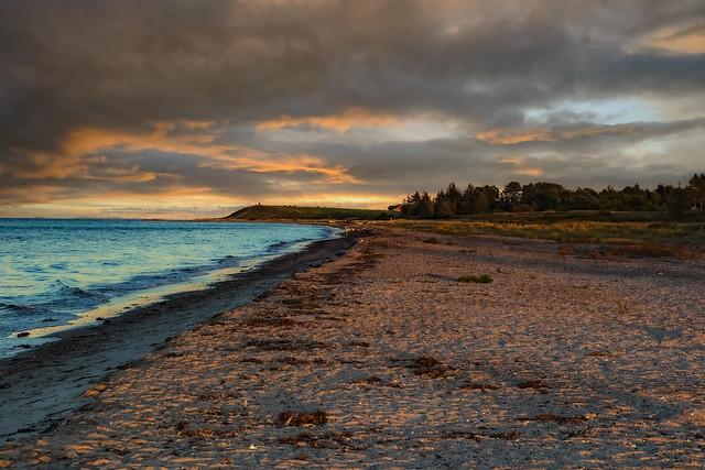 last sunlight on the beach of the Baltic Sea (DK)