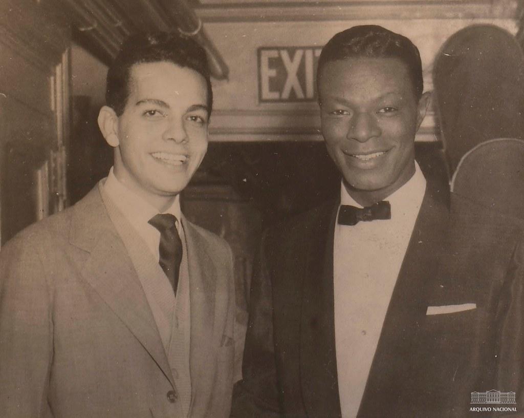 Cauby Peixoto e Nat King Cole, década de 1950