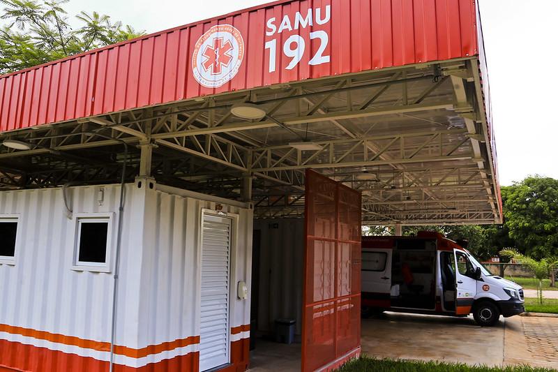 Saúde inaugura primeira base modular do Samu