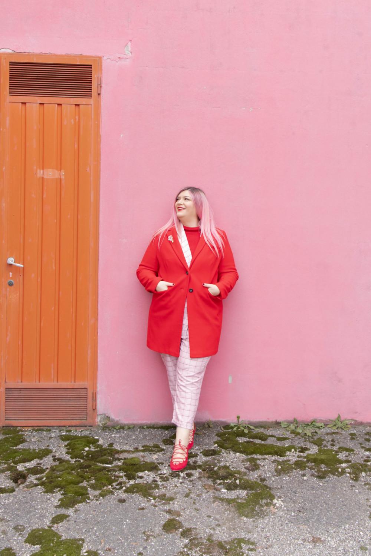 curvy color challenge monocromatico rosso e rosa (5)
