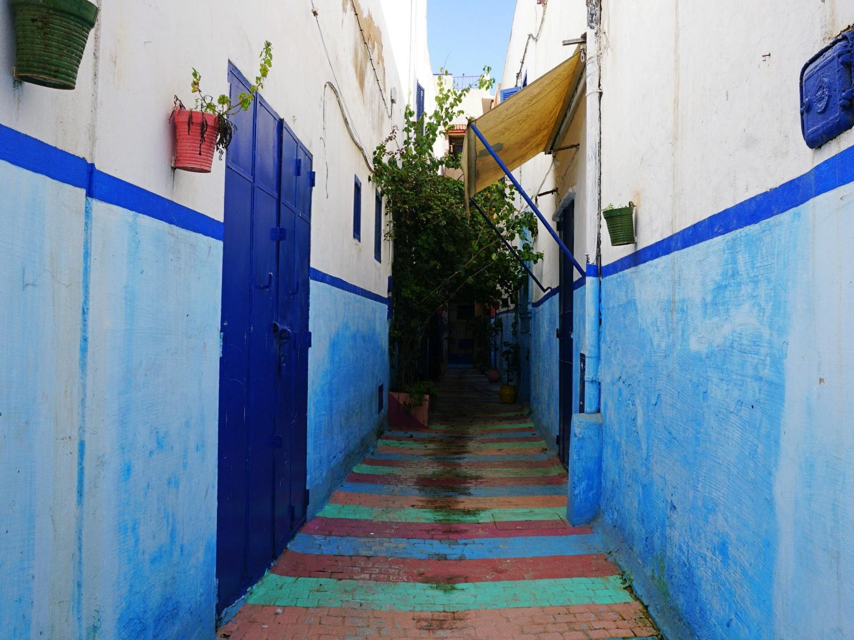 Rabat medina rainbow street