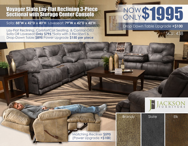 Voyager Slate 3PC Sectional_438