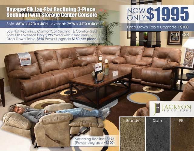 Voyager Elk 3PC Sectional_438