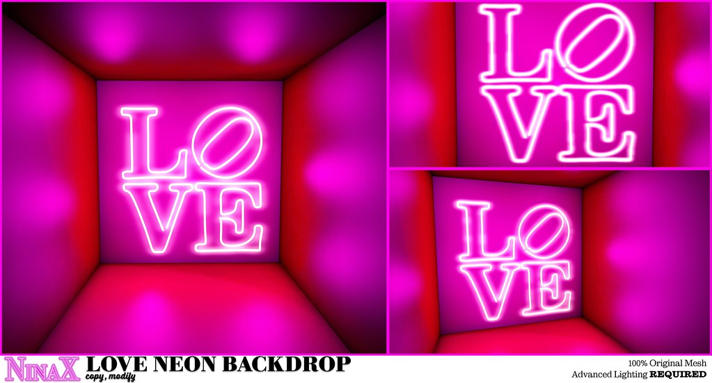 Love Neon Backdrop x Love for All Hunt