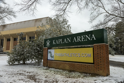 Scenes from a snow day: Kaplan Arena