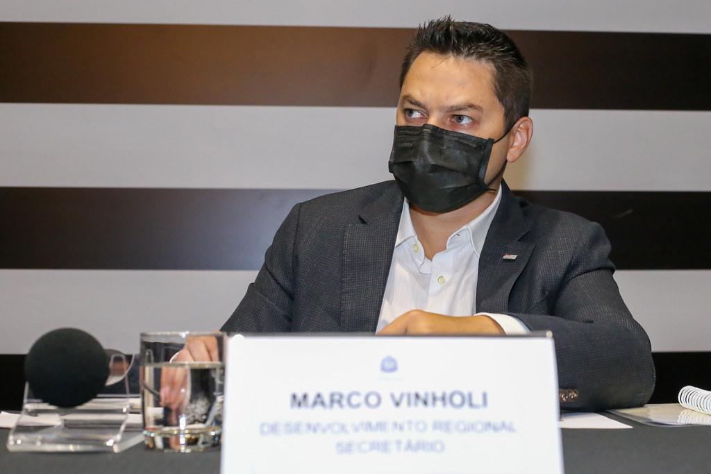 Reunião com Secretário Marco Vinholi e Prefeitos