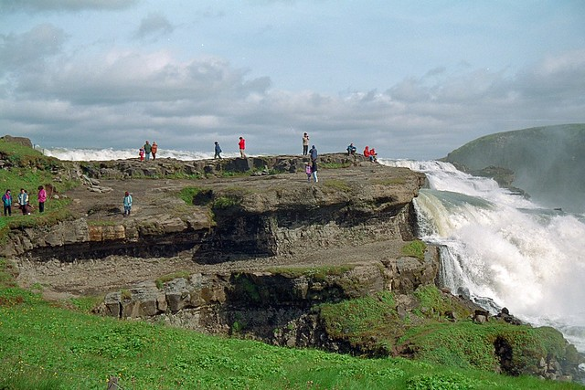 Islandia - 1995 Gulfoss waterfall